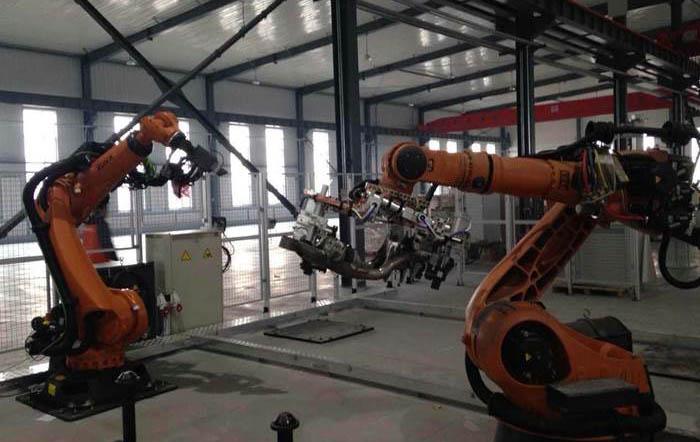 新厂房实验展示区2号在线测量工位